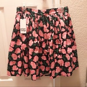 Unique vintage floral skirt